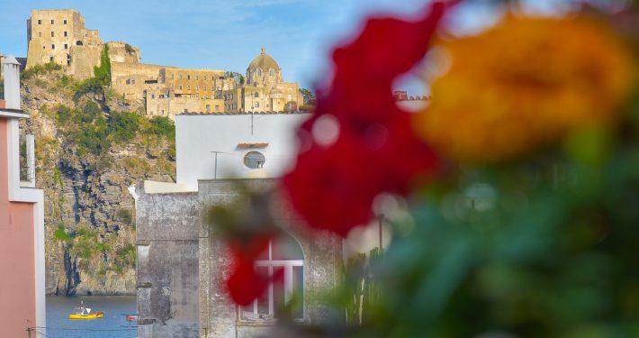 Vista con castello sullo sfondo