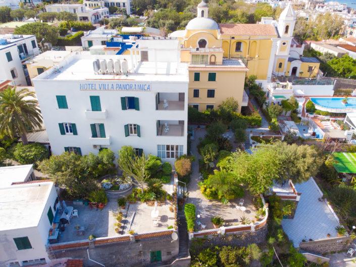 Prospettiva dall'alto dell'hotel
